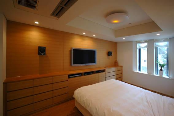 寝室の造作収納