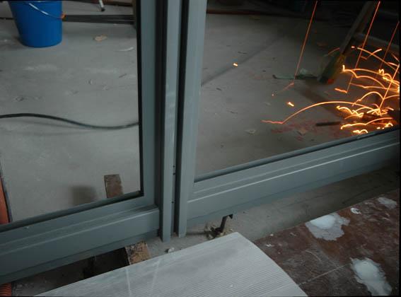 鋼製サッシの詳細ディテール