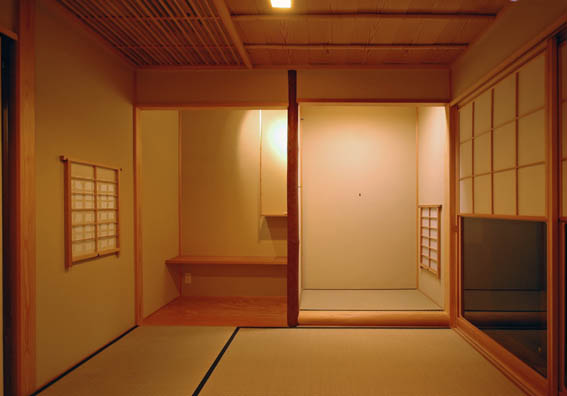 お茶室の床と床脇