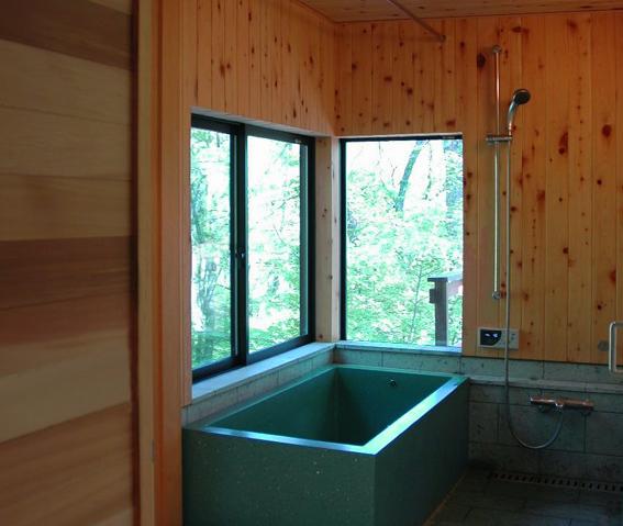 新緑のお風呂@軽井沢
