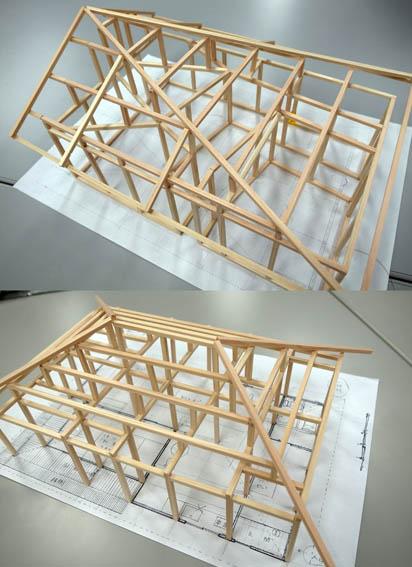 木造軸組み模型