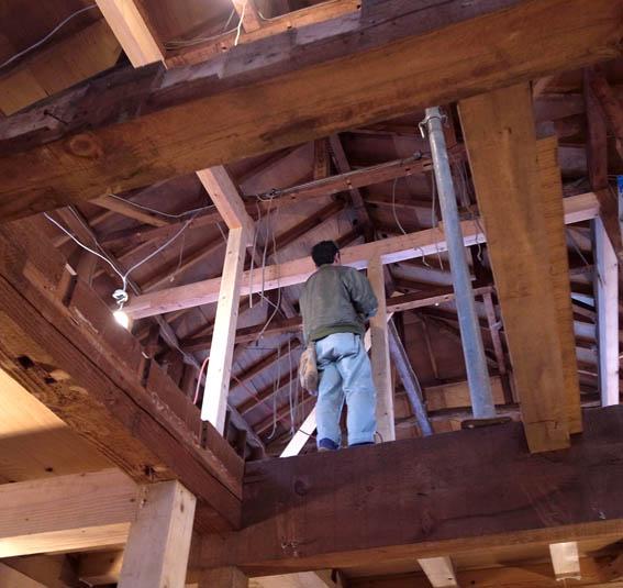 2階構造補強工事