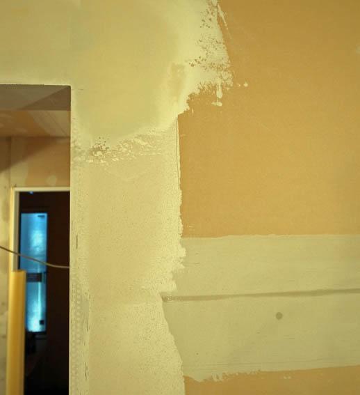 塗装下地のパテしごき
