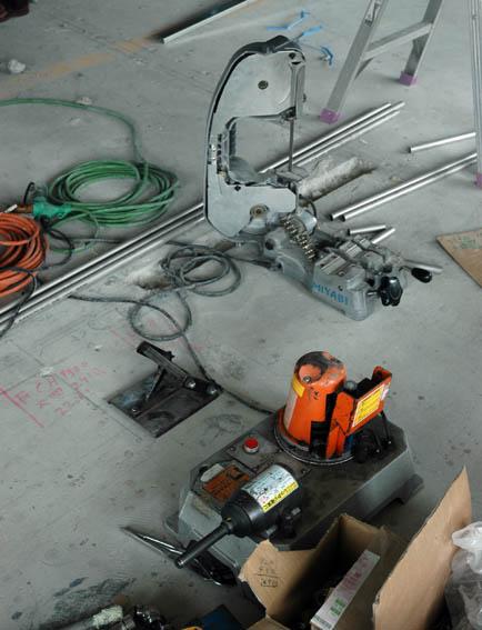 配管工事 二つの工具