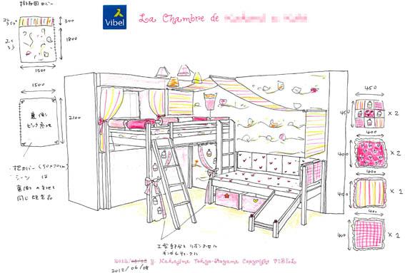 女の子の子供部屋インテリアイメージ