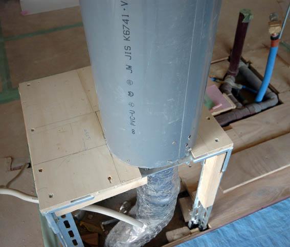 VU管を使った円形シャフト