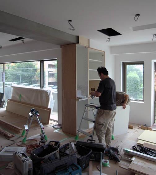 造り付け家具の設置