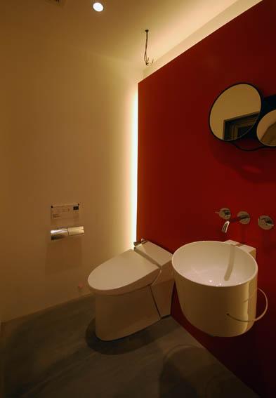 来客用トイレ照明