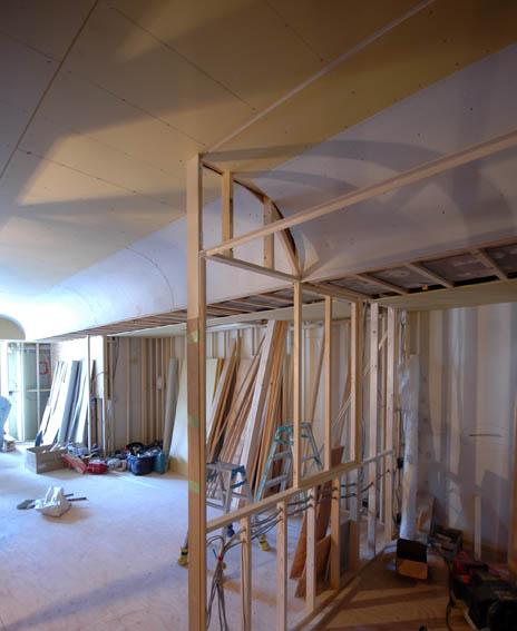 曲がり天井の施工