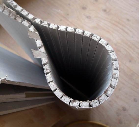 石膏ボードの曲面施工