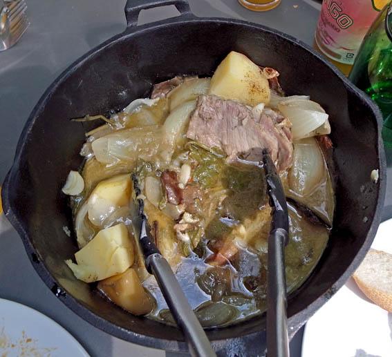 塩豚のストーブ蒸し煮