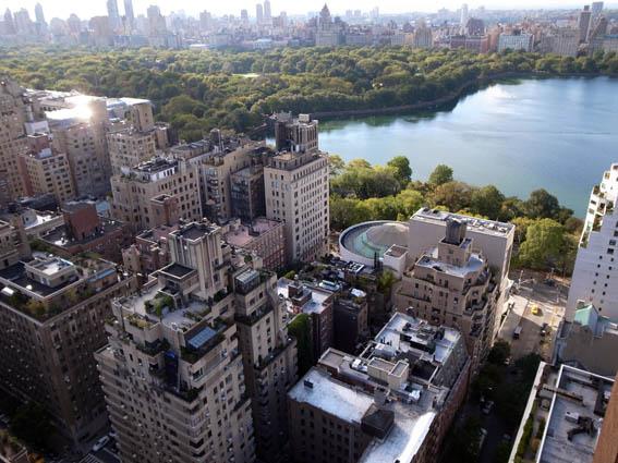 ニューヨークS邸からのセントラルパークの眺め