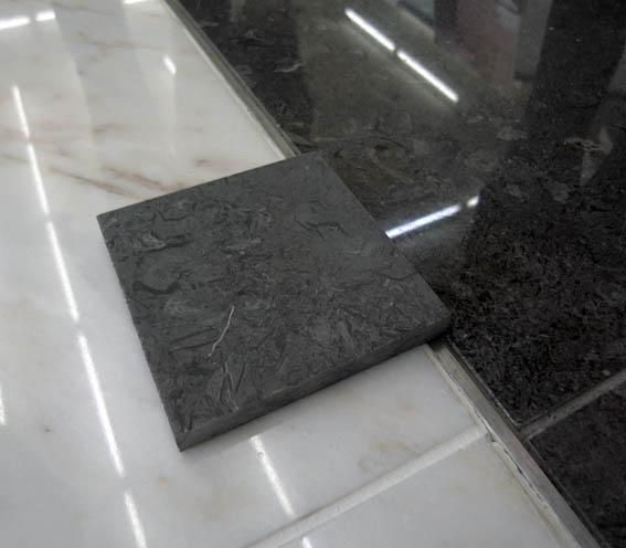 玄関ホールの石サンプル
