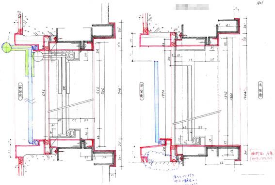 浴室建具枠チェックA,B案_140924-1-1