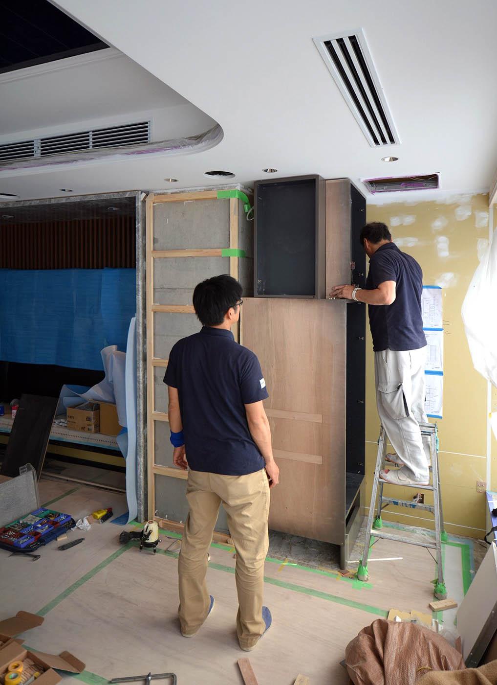 AV収納棚設置工事