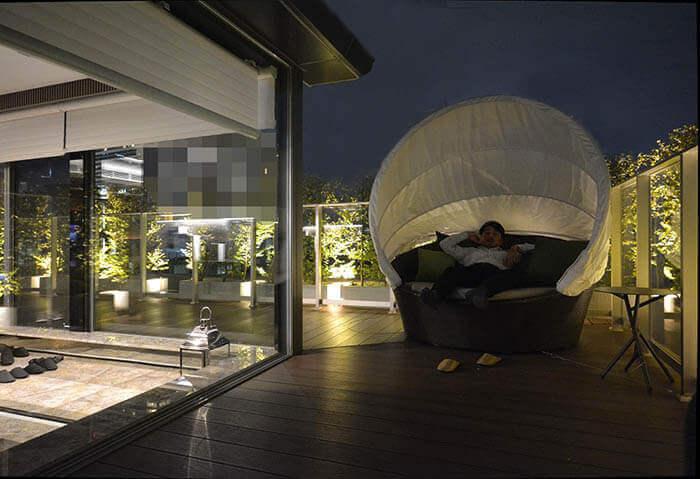 超高級マンションリノベーション港区R邸テラス夜景