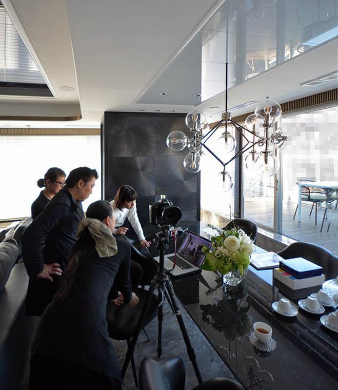 家庭画報のマンションリノベーション撮影