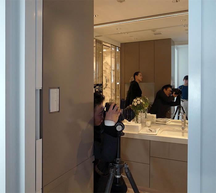 洗面のドライルーム撮影