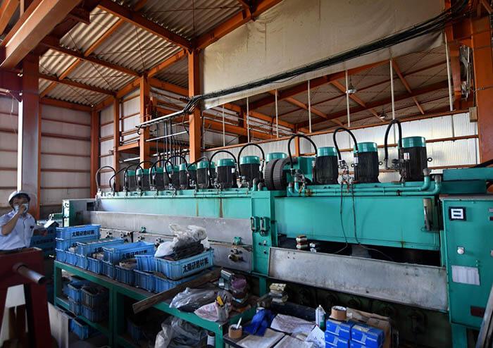 大理石のピール加工用機械