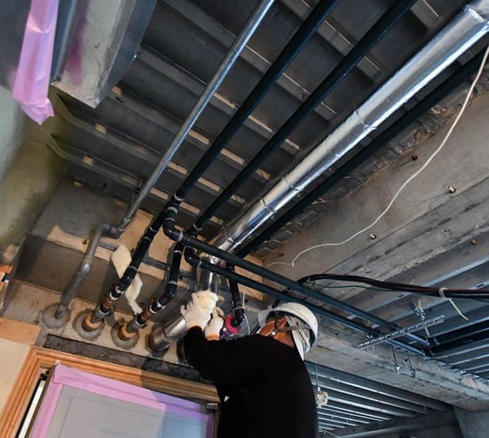 設備工事の配管被覆