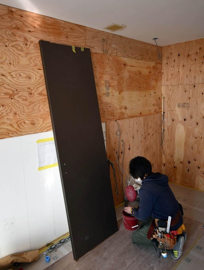 解体後の渋谷M邸リフォーム工事現場