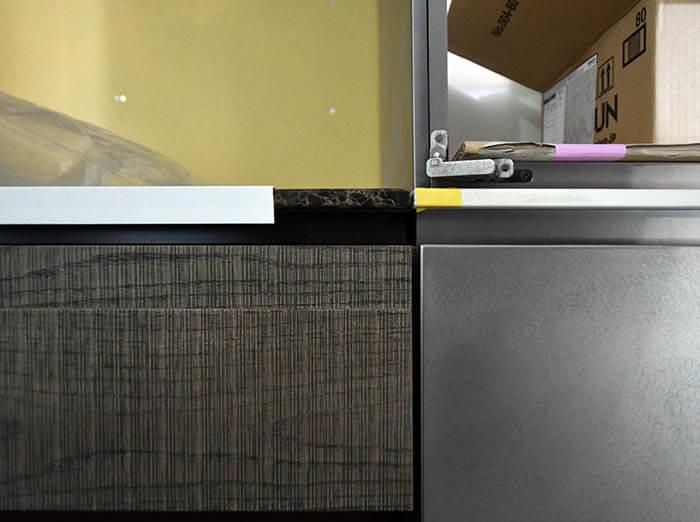 オーダーキッチンと造作家具の取り合い