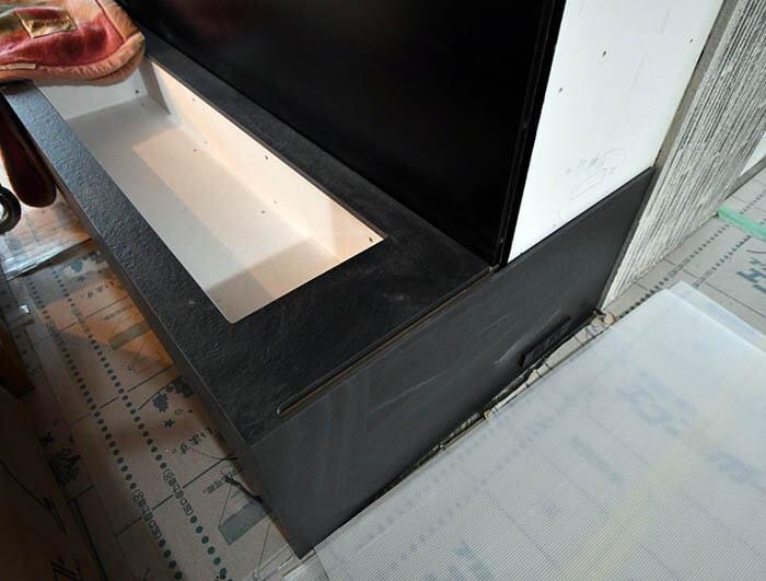 バイオエタノール暖炉の設置カウンター