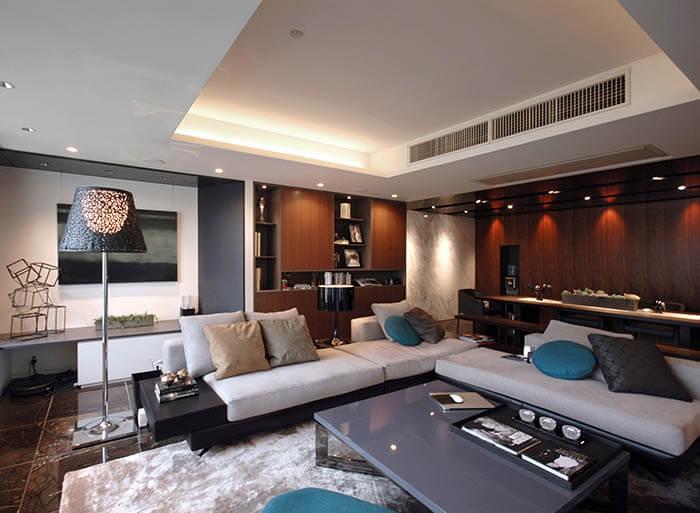 ミノッティのソファのマンションインテリア_ホワイト