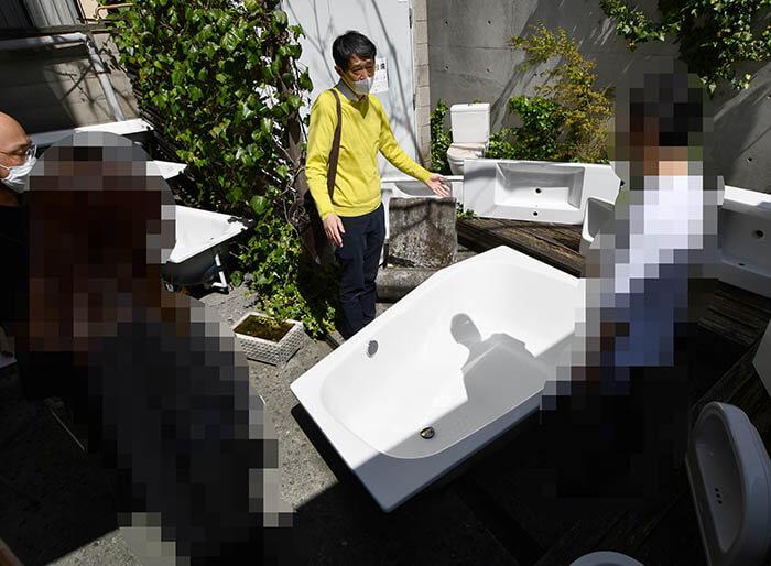 鋼製ホーローのカルデバイ浴槽