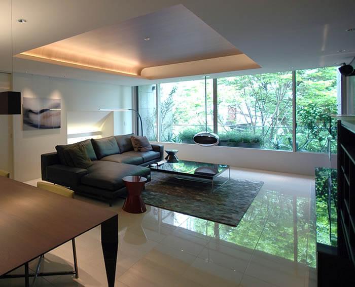 ミノッティのソファのマンションインテリア__ハミルトン