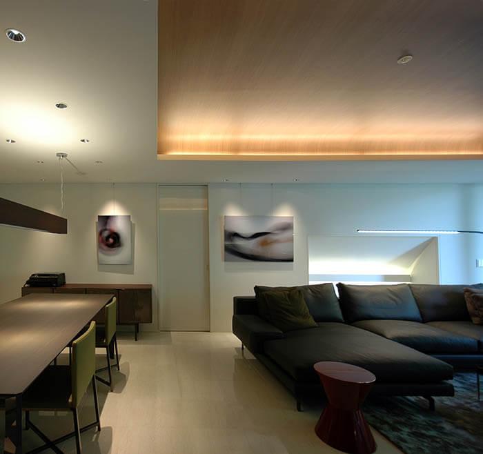 ミノッティのソファのマンションインテリア_シャーマン