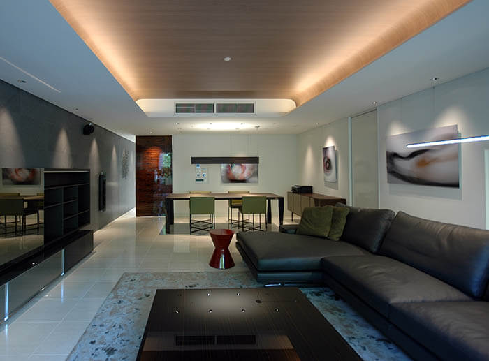 ミノッティのソファのマンションインテリア_ハミルトン