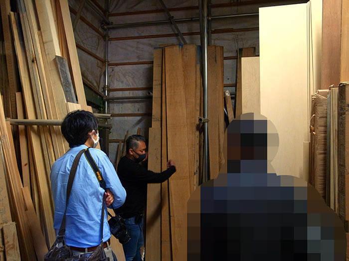 コナラハウス茅ケ崎材木小屋訪問