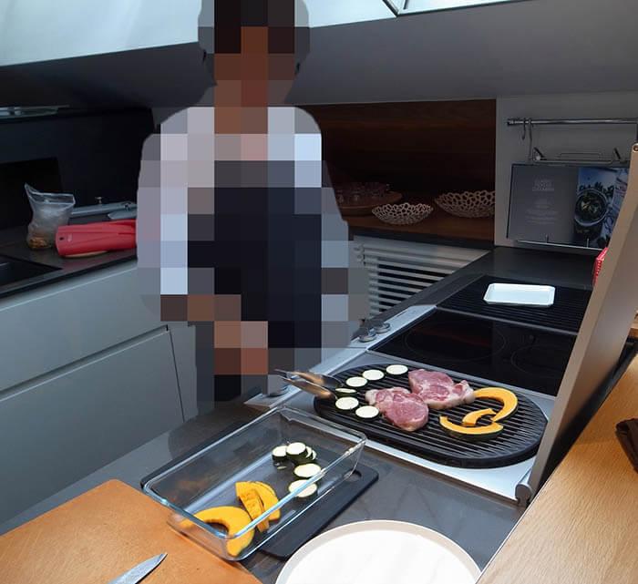 リネアタラーラショールームでのキッチン実習